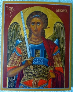 Archangel Michael painted by Mom